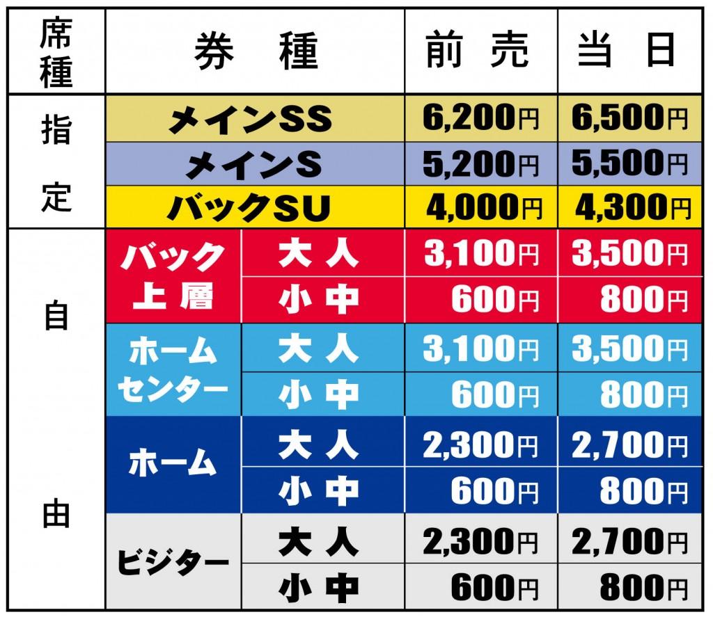 味スタ価格表 1024x887 【チケット・観戦】スタジアム
