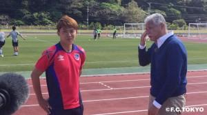 IMG 0927 300x168 NHK BS 1『Jリーグタイム 』にてFC東京の選手が登場!