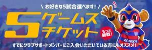 5ゲームスバナー(大)3 300x100 3/15(水)仙台戦 当日券販売と上層席について