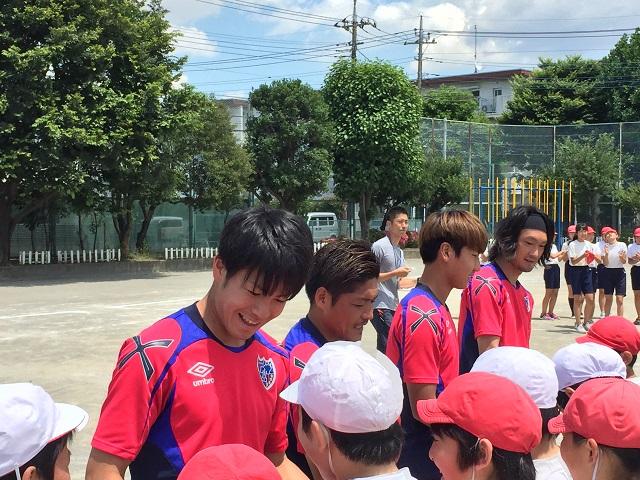調布1 【報告】FC東京選手会 小学校訪問