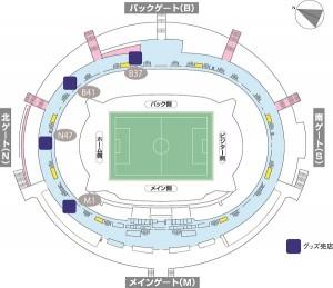 場内売店地図(グッズ売店) 300x259 新・FC東京グッズ登場!!【Vol.13】
