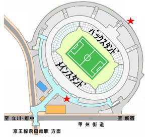 当日申込受付地図 9/16(土)仙台戦 後半年間チケット当日受付について