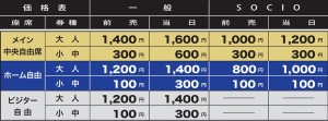 171016チケット価格表味スタHP用 300x111 【U 23】10/16(月)鳥取戦 前売券販売について